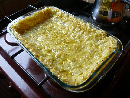 Oiled quiche crust