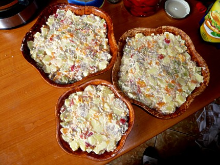 Salata Boeuf in bowls
