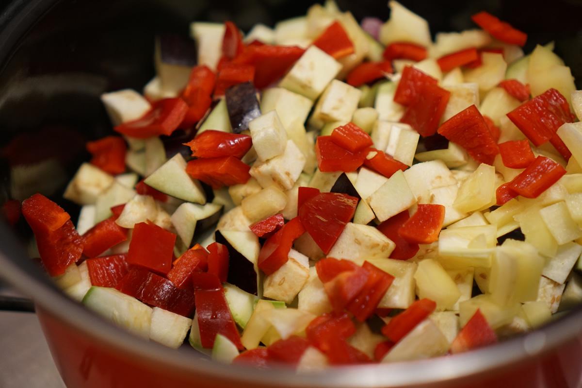 Cubulețe de legume colorate