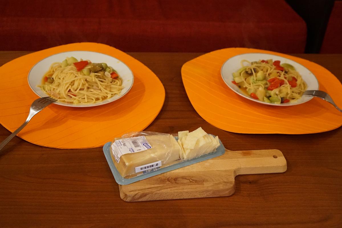 Paste cu legume si branza Grana Padano